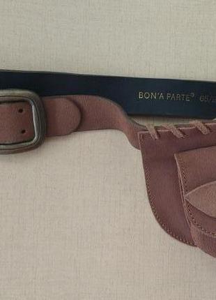 Эксклюзивный красивый кожаный пояс ремень с кошельком -сумочкой