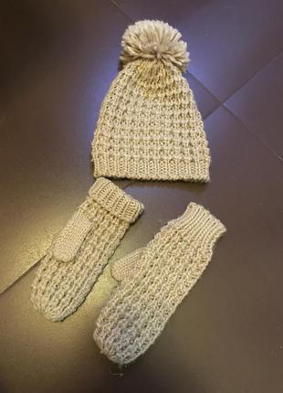 Шапка та рукавички набір
