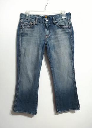 Распродажа! джинсы кроп клеш, кюлоты бриджи, 27 р-р, 7 for all mankind (сша)
