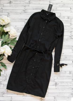 Черное котоновое платье new look