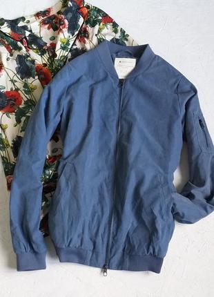 Стильная куртка бомбер ветровка нереального небесного цвета от street one