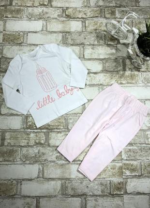 Трикотажный копслект на девочку, штаны и реглан, англия