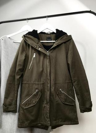 Куртка парка оливковая хаки эврозима осень new look