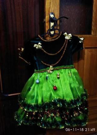 Новорічне платтячко - ялинки,