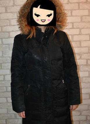 Длинный зимний пуховик tom tailor