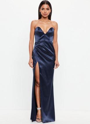 Вечернее атласное макси платье от missguided