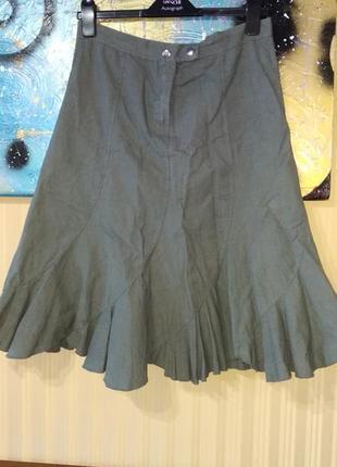 Льняная юбка оригинального фасона