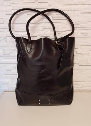 Большая кожаная сумка шоппер clarks