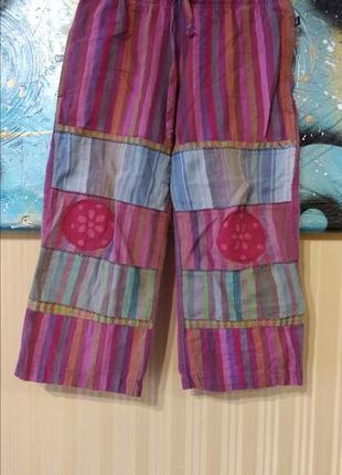 Домашние штаны в полоску