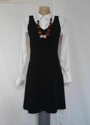 Стильный черный сарафан, платье франция