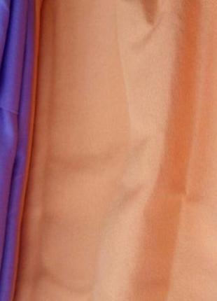 Набор однотонного постельного белья оранжево-сиреневый двуспальный3