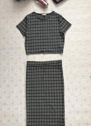 Костюм : юбка миди и топ-  м размер miss selfridge