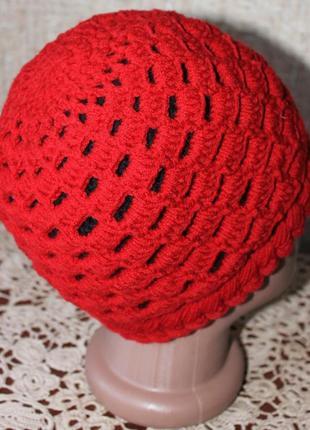Теплая двойная шапочка2