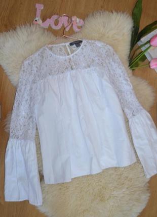 Блузка красивейшая белая блуза с кружевом