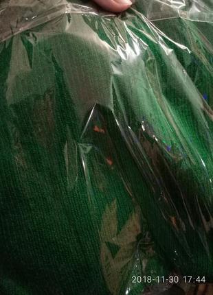 Гольф,свитер,гольф в рубчик , лапша 42-48 с-м-л-хл зеленый сочный5
