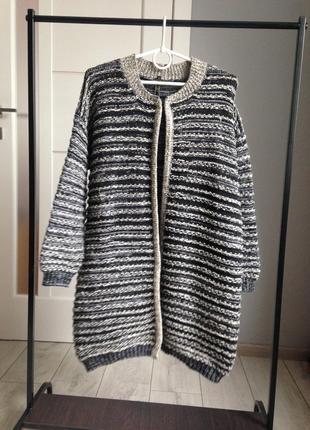 Теплющий кардиган пальто в иделае. 20% шерсть!!! tu