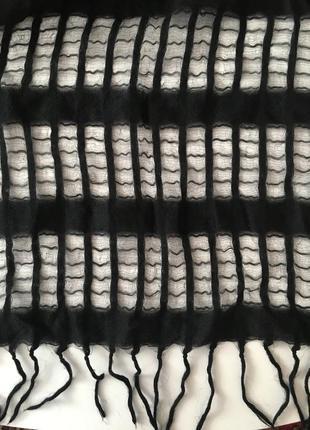 🎉скидки!!!ажурный шарф шаль из шерсти и шелка италия