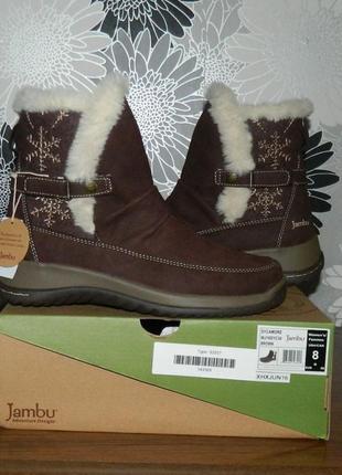 Сапоги ботинки коричневые кожаные зимние оригинал сша rp 149dol. jambu 38 и 39 р.