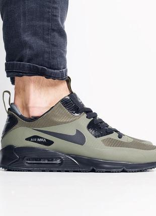 Nike air max 90 winter haki мужские кроссовки осенние на термо-подкладке цвета хаки