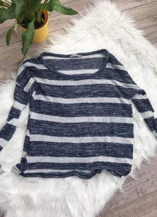 Кофта свитер легкая в полоску