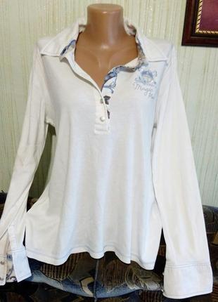 fade021afa2 Стильная рубашка белого цвета. бренд via appia. раз.укр.50-521 ...