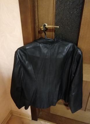 Женский кожаный пиджак2