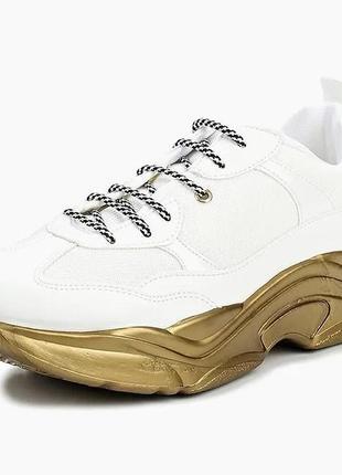Новые кроссовки на золотой подошве topshop