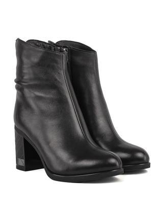 1132ц женские ботильоны polann,кожаные,на толстой подошве,на толстом каблуке,на каблуке