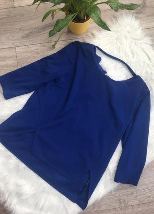 Очень красивая кофта/блуза с асимметрией и красивой спиной