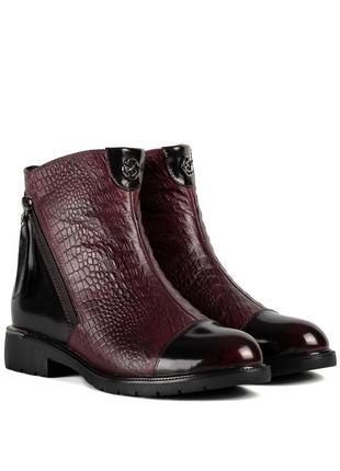 1131ц женские ботинки polann,кожаные,на широком каблуке,на низком ходу,на танкетке