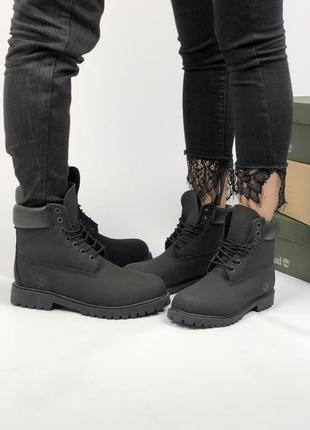 75546ece9534 Шикарные ботинки timberland black с мехом! (унисекс  мужские  женские)