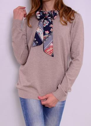 Пуловер с бантом, шлифованная шерсть. италия