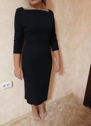 Строгое чёрное платье1 фото
