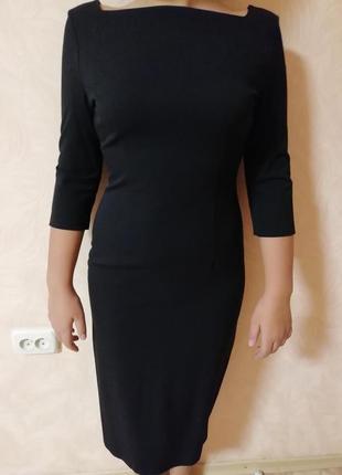 Строгое чёрное платье3 фото
