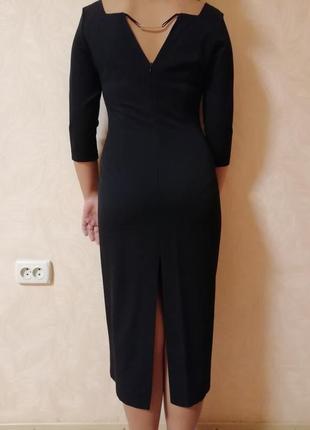 Строгое чёрное платье4 фото