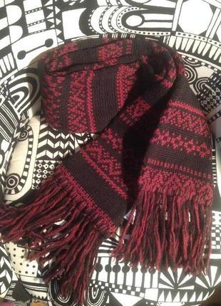 Тёплый шерстяной шарф англия highland