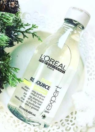 Очищающий шампунь для нормальных и жирных волос l´oreal professionnel pure resource