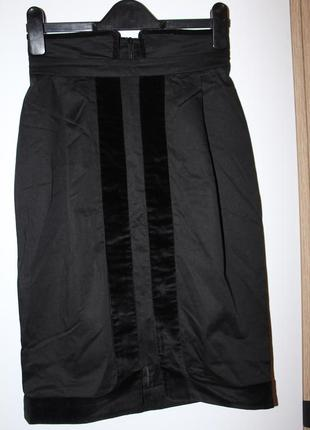 Черная юбка карандаш tago / классическая юбка s - xs