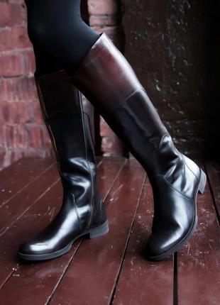 Кожаные сапоги ecco saunter gore-tex, 38 размер