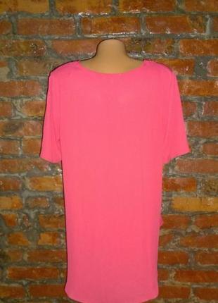 Блуза топ кофточка с ассиметричным низом трендового кораллового оттенка papaya2 фото