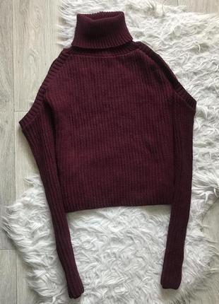 :свитер с открытыми плечами missguided
