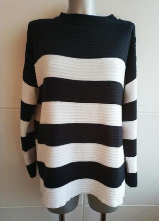Стильный свитер оверсайз wallis с горизонтальными полосами