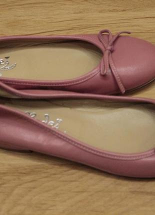 Туфли-балетки vero cuoio, размер 35, 100% оригинал. кожа