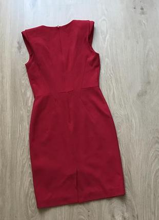 Шикарное красное платье warehouse размер 8 (s)
