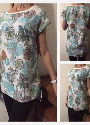 Восхитительная💕 удлиненная блуза/ футболка