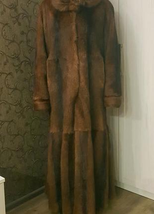Шуба из сурка (полевая норка)/ распродажа на рождество-300 грн.