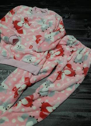 Плюшевая махровая пижама,  122-128, 146-152 см