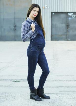 Для беременных джинсовый комбинезон размер 40 бесплатная доставка
