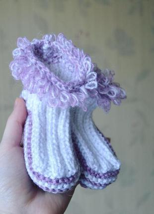 Носочки вязаные детские