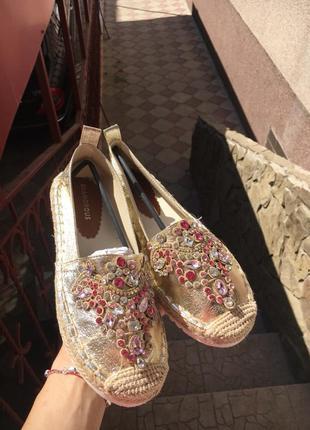Нереально крутые туфли мокасины эспадрильи балетки, glamorous + подарок